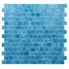"Kellani Quartz 0.75"" x 0.75"" Glass Mosaic Tile in Blue"