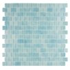 """Kellani Quartz 0.75"""" x 0.75"""" Glass Mosaic Tile in Light Blue"""