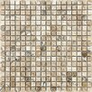 "Parvatile 7"" x 7"" Stone Mosaic Tile in Beige"