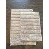 AM Home Textiles Ladder 2 Piece Bath Mat Set