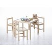 TICAA Children 4 Piece Square Table and Chair Set
