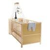 TICAA 2 tlg. Umwandelbares Kinderbett- und Wickeltisch-Set mit Matratze