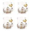 Leila's Home Living Poppy Glass Tea Cup (Set of 4)