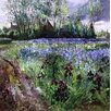 Magnolia Box Iris Field and Passing Storm Clouds, 1991 by Timothy Easton Art Print on Canvas