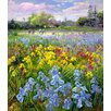 Magnolia Box Hoeing Team and Iris Fields, 1993 by Timothy Easton Art Print on Canvas
