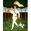 Magnolia Box Butterfly Cathcher, 1996 by Frances Broomfield Art Print