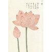 Magnolia Box Poster Honzo Zufu [Lotus & Bud], Kunstdruck von Kan'en Iwasaki