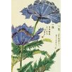 Magnolia Box Leinwandbild Honzo Zufu Blue Flower von Kan'en Iwasaki