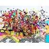 Magnolia Box Leinwandbild Explosion, 2009, Grafikdruck von Myrtia Hellner