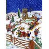 Magnolia Box Christmas Eve in the Village by Tony Todd Art Print
