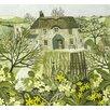 """Magnolia Box Leinwandbild """"Tom's Cottage"""" von Vanessa Bowman, Grafikdruck"""