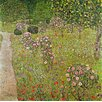 Magnolia Box Leinwandbild Orchard with Roses, Kunstdruck von Gustav Klimt