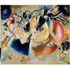 Magnolia Box Improvisation of Cold Forms 1914 by Wassily Kandinsky Art Print on Canvas