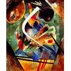 """Magnolia Box Gerahmtes Poster """"Black and Violet Composition, 1920"""" von Wassily Kandinsky, Kunstdruck"""