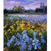 Magnolia Box Irises Willow and Fir Tree, 1993 by Timothy Easton Framed Art Print