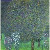 Magnolia Box Roses under The Trees, C.1905 by Gustav Klimt Framed Art Print