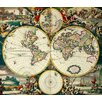 Magnolia Box World Map by Frederick de Wit Graphic Art on Canvas