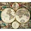 Magnolia Box Gerahmter Kunstdruck World Map von Frederick de Wit