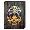 aMonogram Art Unlimited Faberge Egg Rustic Wooden Board Wall Décor