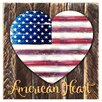 aMonogram Art Unlimited Heart Vintage Flag American Heart Quote Wall Décor