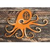 aMonogram Art Unlimited Octopus Vintage Rustic Single Letter Wooden Shape Wall Décor