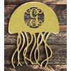 aMonogram Art Unlimited Jellyfish Rustic Single Letter Wooden Shape Wall Décor