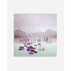 """Atelier Contemporain Gerahmtes Poster """"Lotus"""" von Iris, Grafikdruck"""