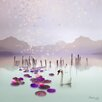 "Atelier Contemporain Leinwandbild ""Lotus"" von Iris, Grafikdruck"