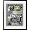 """Atelier Contemporain Gerahmtes Poster """"Icon's New York"""" von Aksel, Grafikdruck"""