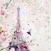 """Atelier Contemporain Leinwandbild """"Demoiselle by Chacha"""" von Iris, Grafikdruck"""