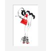 Atelier Contemporain Red Bag by Burfitt Framed Art Print