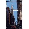 """Atelier Contemporain Leinwandbild """"Chrysler Building"""" von Philippe Matine, Grafikdruck"""