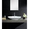 Fine Fixtures Modern Vitreous Low oval Vessel Sink Vessel Bathroom Sink with Overflow