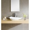 Fine Fixtures Modern Vitreous Triangular Vessel Sink Vessel Bathroom Sink