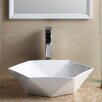 Fine Fixtures Modern Hexagon Shape Bathroom Sink