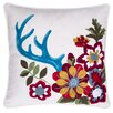 14 Karat Home Inc. Embroidered Floral Throw Pillow