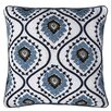 14 Karat Home Inc. Sunrise Ikat Embroidered Throw Pillow