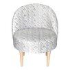 HappyBarok Scandi Wool Side Chair