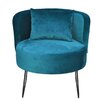 HappyBarok Lever Velvet Side Chair