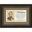 Carpentree Historical Quotes 'Lincoln' Textual Art
