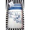 Atelier ëdele Biplane Organic Baby Microfiber Duvet 4 Piece Crib Bedding Set