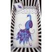 Atelier ëdele Peacock Organic Baby Down Duvet 4 Piece Crib Bedding Set