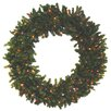 Darice Pre-lit Battery Operated Canadian Pine Artificial Christmas Wreath with Multi-Color LED Lights