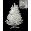 Darice 3' White Pine Artificial Christmas Tree with 100 LED Clear Lights and Stand