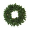 Darice Long Needle Pine Artificial Christmas Wreath with Pine Cones