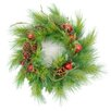 """Darice 24"""" Apple Berry and Pine Cone Artificial Christmas Wreath"""