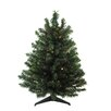 Darice 3' Green Artificial Christmas Tree with 100 LED Multi-Color Lights and Stand