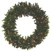 Darice Pre-Lit 7' Canadian Pine Artificial Christmas Wreath with Multi Lights
