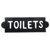 SKStyle Schild Toilets, Typografische Kunst