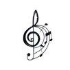 SKStyle Treble Clef Music Score Wall Decor